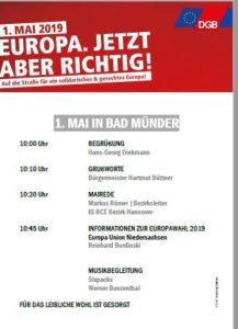 1.Mai Kundgebung 2019 Steinhof Bad Münder